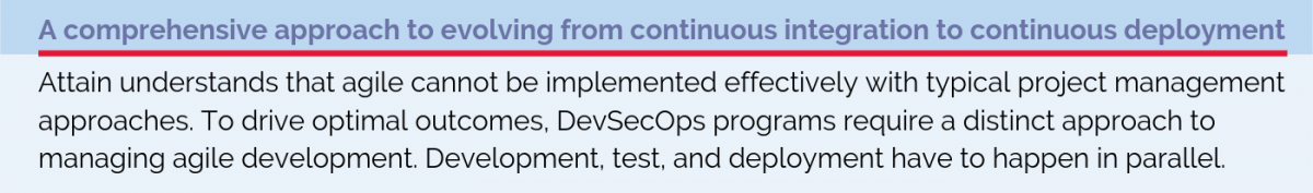 A comprehensive approach to evolving from continuous integration to continuous deployment