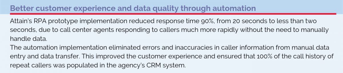 Better customer experience and data quality through automation
